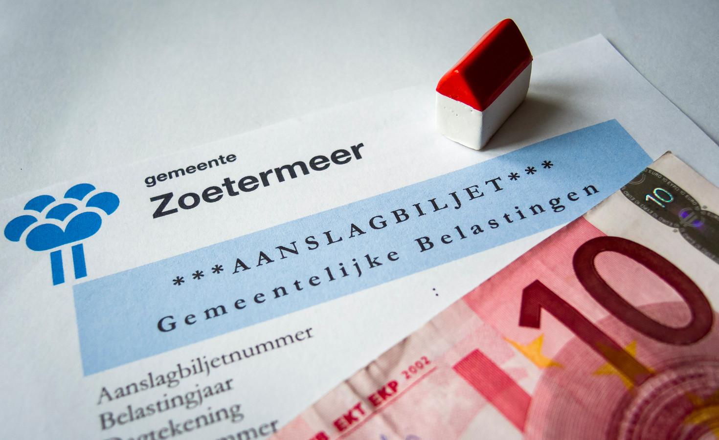 De gemeentelijke belastingen worden bepaald op basis van de WOZ-waarde van huizen.
