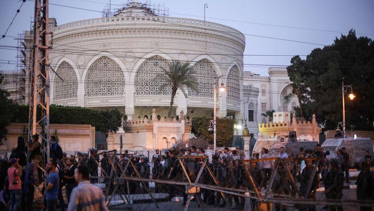 Demonstranten in Heliopolis vorige maand. Beeld GETTY