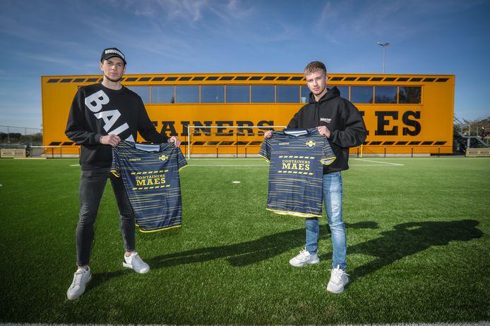 Nieuwe spelers voor Thes Sport: Benjamin Brants (l.) en Beau Schodts (r).