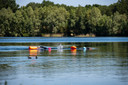 Goirle - Pix4Profs - Joris Buijs In alle vroegte op deze prachtige warme zomerse ochtend zwemmen twee vriendinnen in de Oostplas in goirle