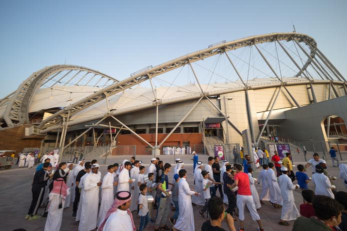 Het Khalifa Stadium in Qatar.