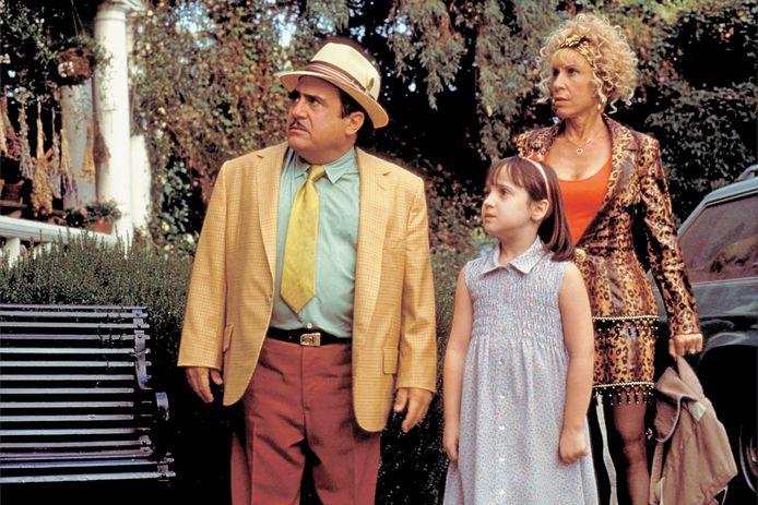 De eerste 'Matilda' uit 1996: met Danny DeVito, Mara Wilson en Rhea Perlman.