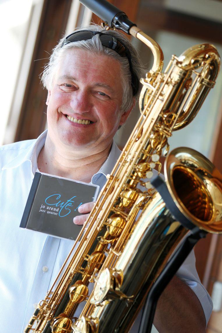 Saxofonist Jo Arend (62) uit Oostende, archieffoto 2012.