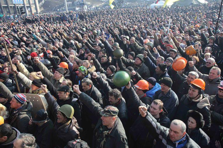 Februari 2014: in Oekraïne barsten protesten uit tegen het regime van Viktor Janoekovitsj, die mede met steun van McKinsey aan de macht is gekomen.  Beeld REUTERS