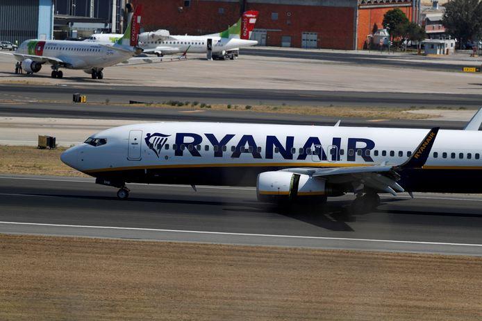 Een toestel van Ryanair.