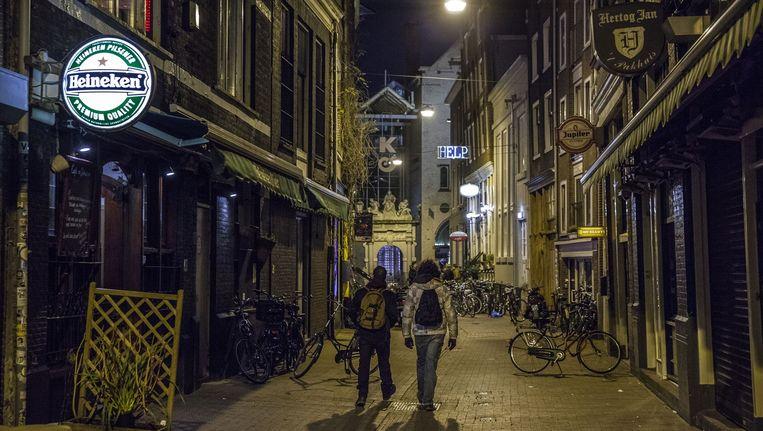 De Voetboogstraat, vroeger onderdeel van het studentenimperium 'De Steeg' Beeld Amaury Miller (www.amaurymiller.nl)