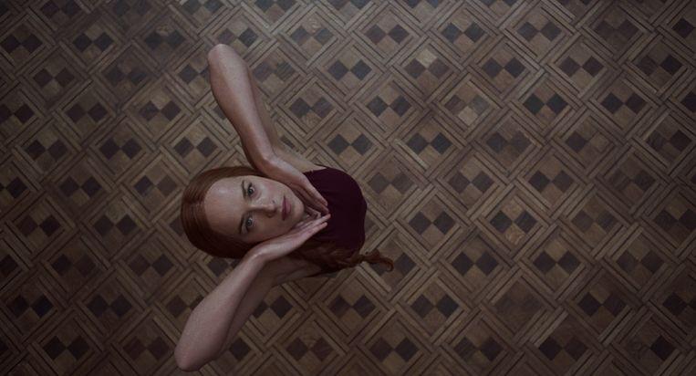 Dakota Johnson als Susie in Suspiria.  Beeld