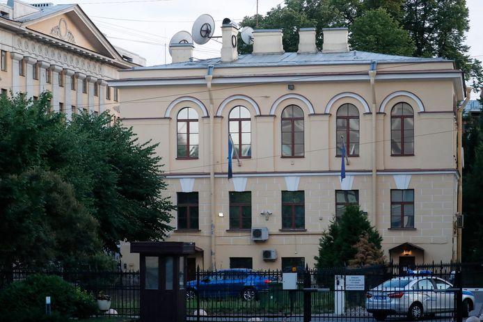 Het consulaat van Estland in Sint-Petersburg.