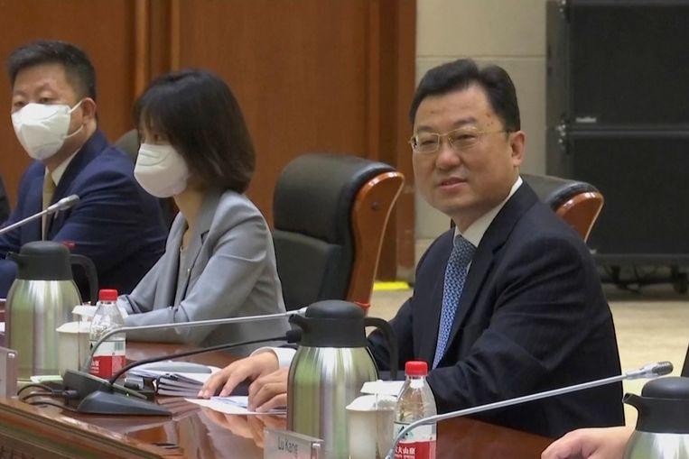 De Chinese viceminister van Buitenlandse Zaken Xie Feng. Beeld AP