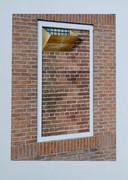 Foto van een dichtgemetseld raam in Kamp Haaren, die Marie gebruikt in haar gastlessen op scholen.