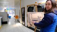 Kunstenaar kiest wassalon als tijdelijk atelier