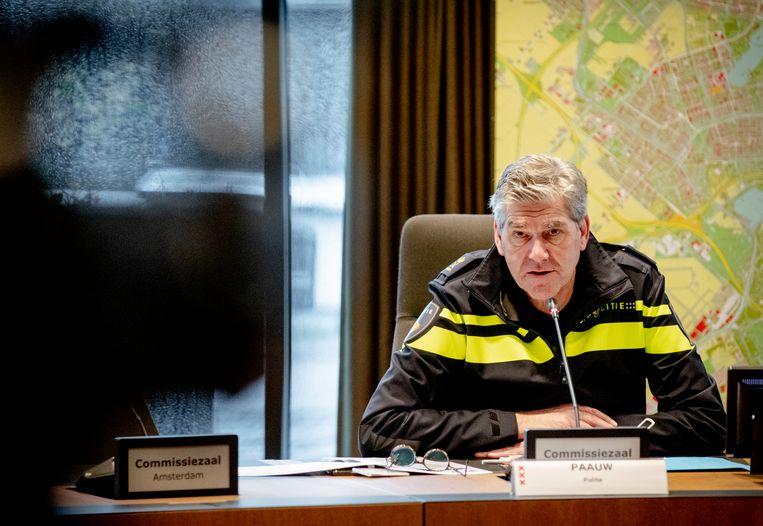 Hoofdcommissaris van de Amsterdamse politie Frank Paauw. Beeld ANP