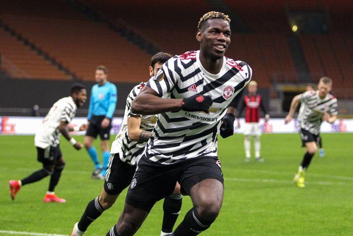 Pogba scoorde gisteren tegen AC Milan.
