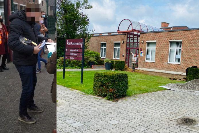 De leerkracht van Sint-Franciscus werd in januari door leerlingen nog overstelpt met cadeautjes voor zijn 60ste verjaardag