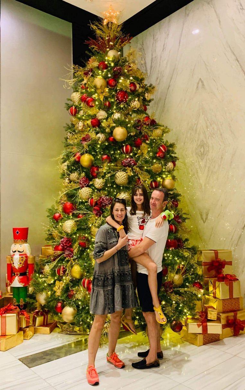 Cloë en haar familie in Miami.