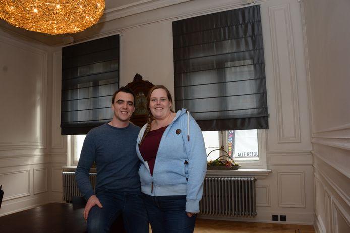 Robby en Jolien in de toekomstige loungebar van 'VAS'