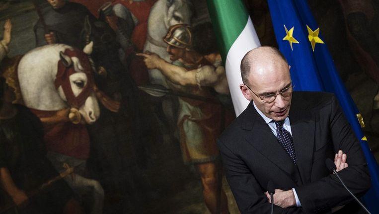 De Italiaanse premier Enrico Letta. Beeld epa