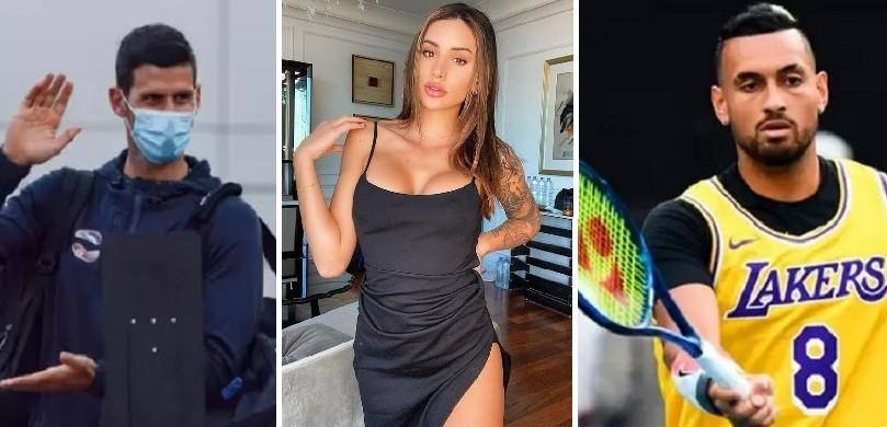 Novak Djokovic et Vanessa Sierra, la petite amie de Berbard Tomic, n'ont pas été épargnés par Nick Kyrgios.