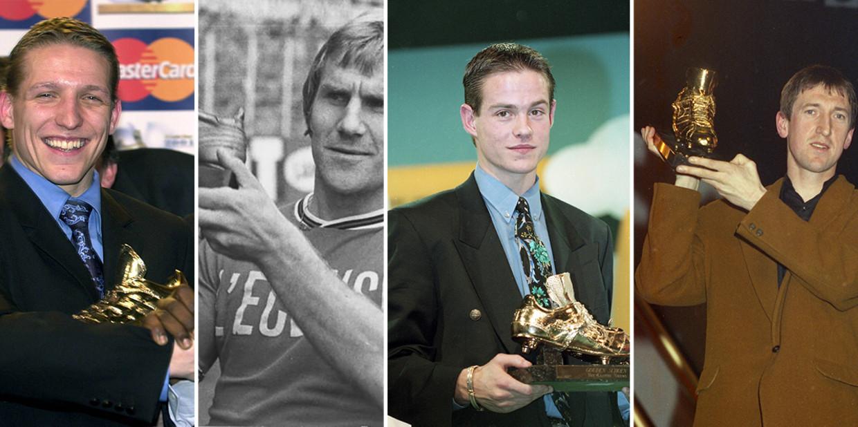 Wesley Sonck,  Johan Boskamp, Gilles De Bilde en Franky Vander Elst Beeld Humo