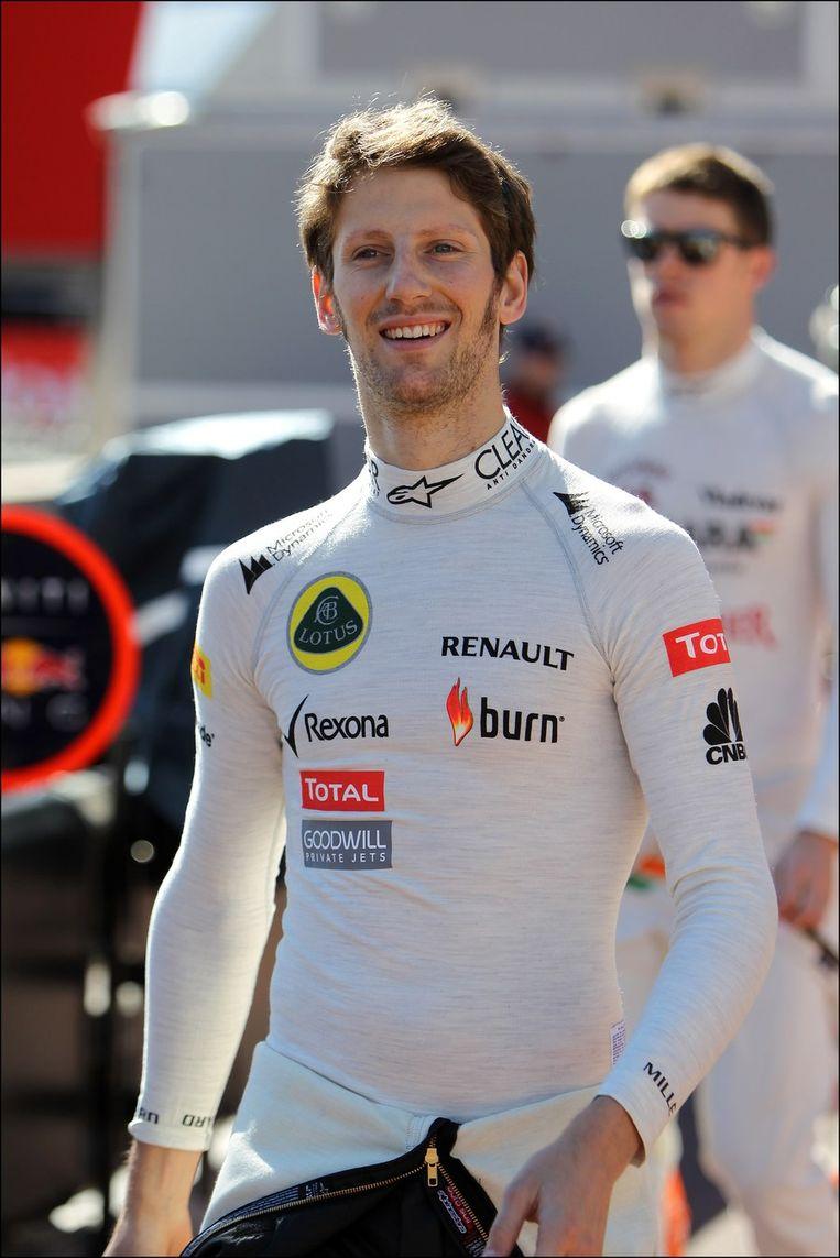Romain Grosjean herinnert zich hoe Olivier Panis lang geleden, in 1996, als laatste Fransman won. Beeld PHOTO_NEWS