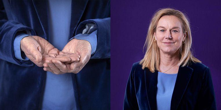 Sigrid Kaag: 'De ultieme ironie wil dat er best veel mensen bij D66 gelovig zijn'. Beeld Werry Crone