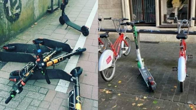 Collectief Tegen Deelsteps hekelt rondslingerende steps in Antwerpen, stadsbestuur belooft nieuwe maatregelen