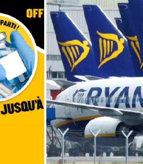 """""""Une piqûre et c'est parti"""": la campagne de Ryanair qui fait grincer des dents"""