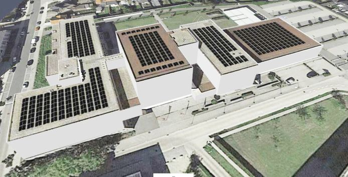 Op de daken van Thomas More Campus Turnhout worden 910 zonnepanelen geplaatst