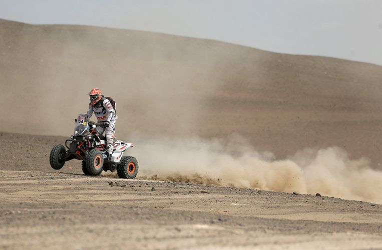 Kees Koolen op zijn quad in deze Dakar.