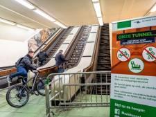 Ein-de-lijk! De Maastunnel is weer open voor wandelaars