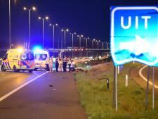 Motorrijder zwaargewond bij val op A28 bij Soesterberg