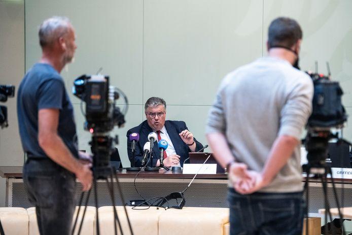 Burgemeester Hubert Bruls van Nijmegen kondigde tijdens een persconferentie in de Raadzaal van het stadhuis van Nijmegen nieuwe regionale coronamaatregelen aan.