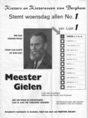 De oude poster over Meester Gielen.