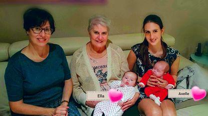 Familie viert viergeslacht met komst tweeling