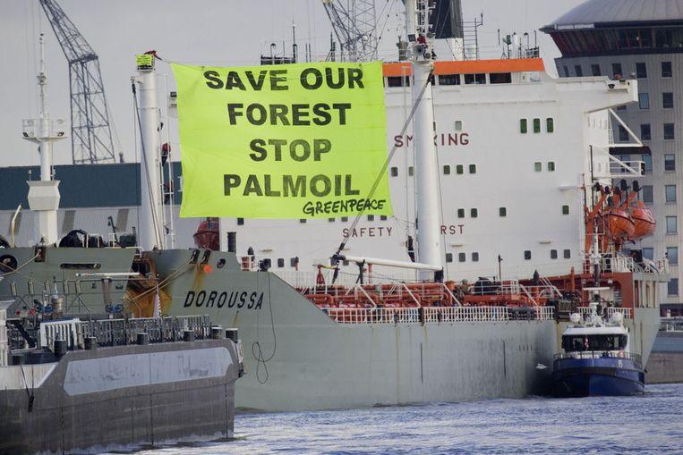 Greenpeace-protest tegen palmolie Beeld null