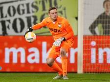 Michael Woud onder de lat bij Willem II tegen Heracles