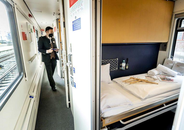 De NS kwam in mei al met de Nightjet, een slaaptrein naar Wenen. Beeld ANP