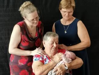 Baby Eline maakt familie trots met viergeslacht