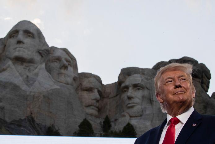 President Donald Trump bij Mount Rushmore vanwege de viering van Onafhankelijkheidsdag op 4 juli.