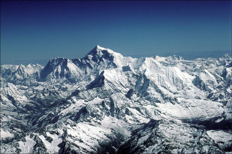 Mount Everest in 1996. Beeld Getty Images