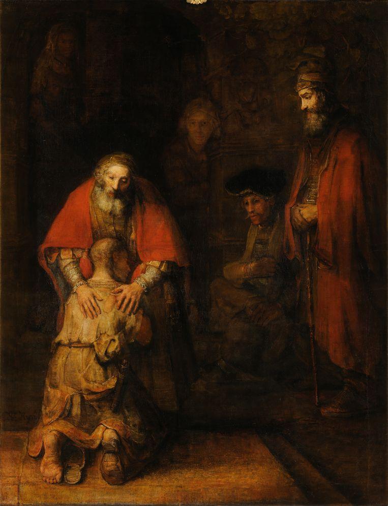 Terugkeer van de verloren zoon, 1666-69 Beeld Rembrandt van Rijn