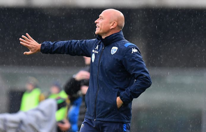 Eugenio Corini stond gisteren nog langs de kant als trainer van Brescia, tegen Hellas Verona (2-1).