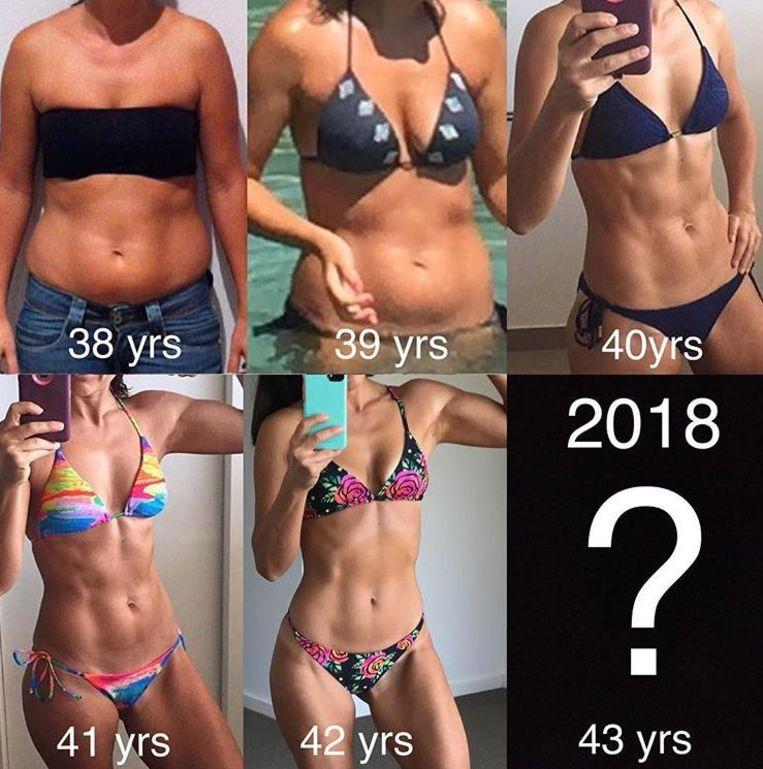 Een overzicht van het gewichtsverlies over de jaren heen.