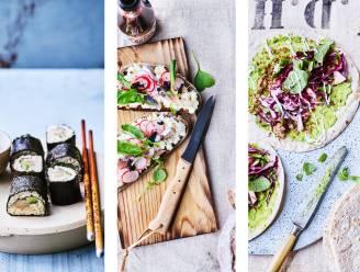 Proef eens sushi van hier, smørrebrød met haring en lokale guacamole. Vijf wereldgerechten in een duurzaam jasje