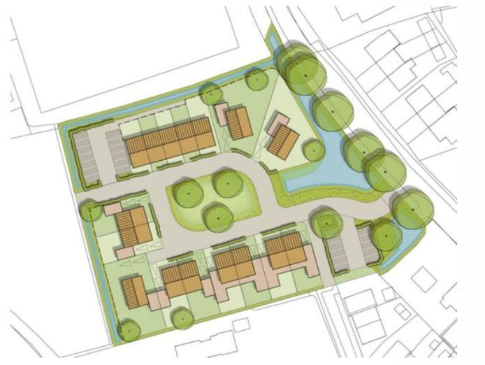 Zo komt het nieuwe wijkje aan de Maaijenstraat in Well eruit te zien.