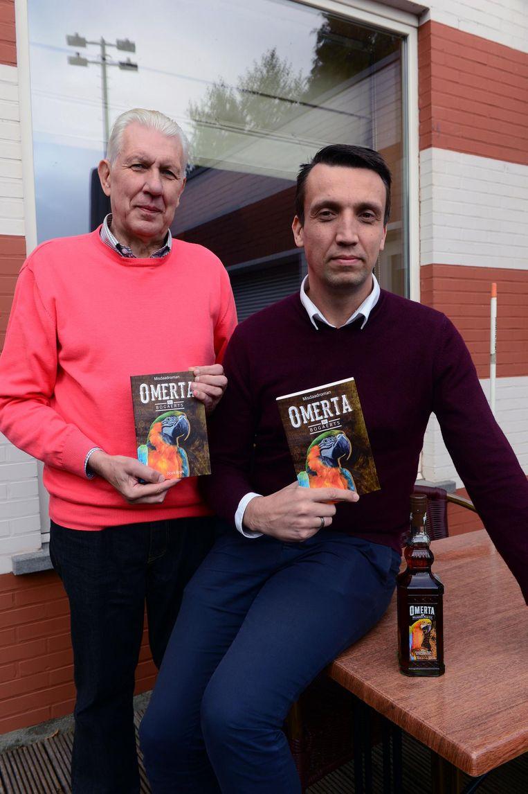 Willy en Steven Bogaerts met hun negende boek, Omerta.