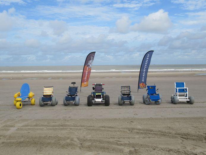 De strandrolstoelen op het strand van Blankenberge kunnen wat uitbreiding gebruiken.