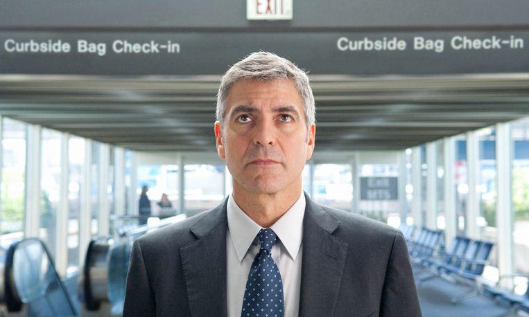George Clooney als Ryan Bingham in 'Up in the Air'. Beeld AP