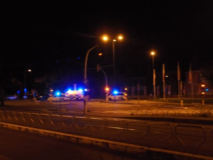 Het ongeval gebeurde op de Martelaarslaan aan de Bijloke