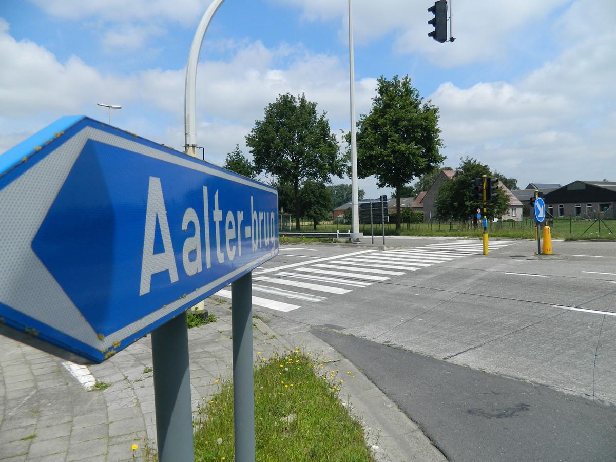 Het kruispunt van de N44.